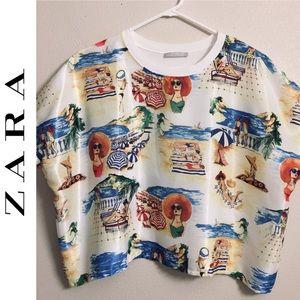 Zara W/B collection graphic Tee